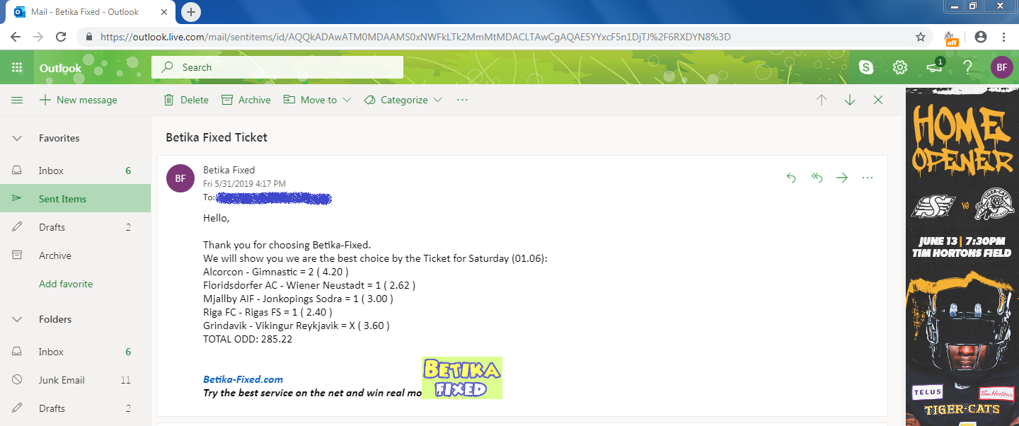 Betika Fixed Matches Email